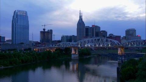 Time lapse shot of Nashville in the evening - NASHVILLE, UNITED STATES - JUNE 16 Footage