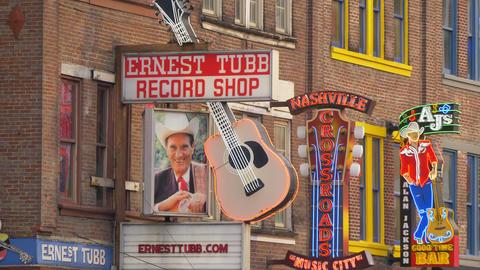 Famous Ernest Tubb Record Shop on Nashville Broadway Footage