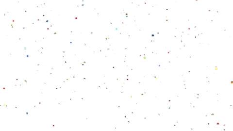 キラキラした紙吹雪 CG動画