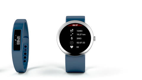 Different types of fitness trackers Animation