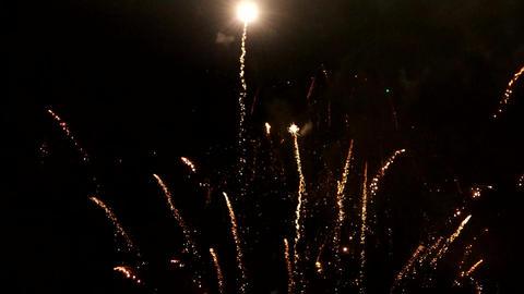 Multiple fireworks explosions Footage