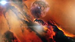 Nebula in deep universe Animation