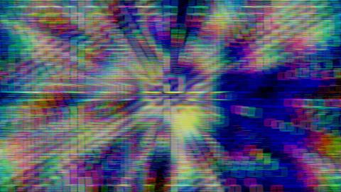Noise Damage Explosion Distorted No Signal Data Sheet Animation