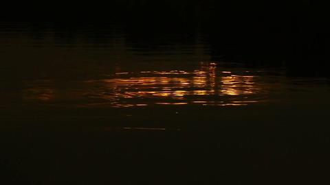 Golden water light Footage