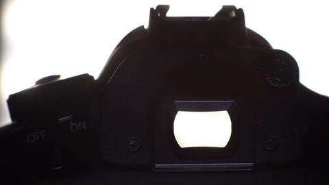 DSLR silhouette close Footage