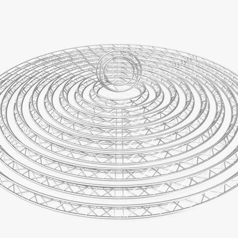 Circle Triangular Truss Modular Collection (10 Modular Pieces) 3D Model