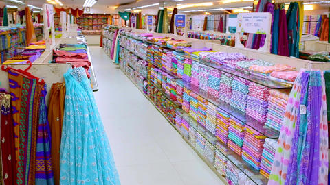 beautiful luxury clothes store and shopping mall interior, Interior of kids store. supermarket store Footage