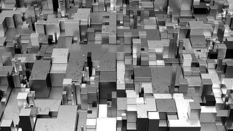 Beautiful Abstract Cubic Shapes Stock Video Footage