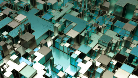 Beautiful Abstract Cubic Shapes Live Action