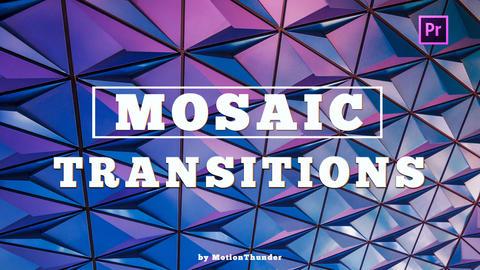 Mosaic Transitions Premiere Pro Template