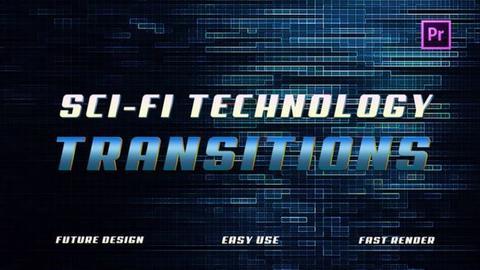 Sci-Fi Technology Transitions Premiere Pro Template