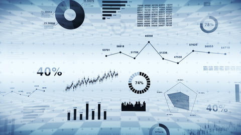 Stock market investment trading. Business infographic... Stock Video Footage