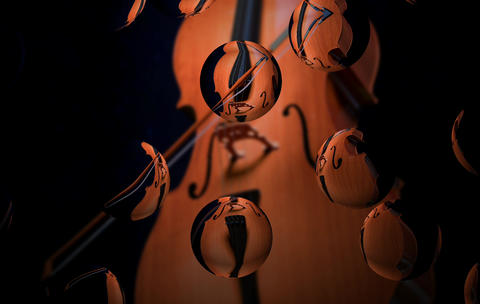 Cello with Bubbles GIF