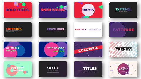 Bold Colorful Titles Motion Graphics Template