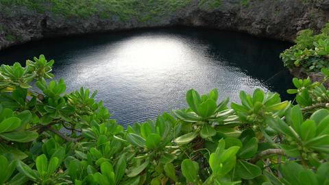 Shimoji island, Japan-June 29, 2019: Tori Pond or Tori Ike in Shimoji island, Okinawa, in the Footage