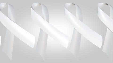 Many white ribbons, a sign to end male violence against women and girls Footage