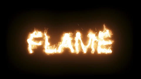 3d animated flaming, burning text - Flame - zooming Live Action