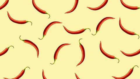 Minimal motion design Chili pepper animation Animation