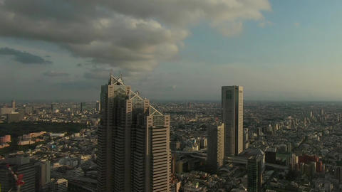 Panoramic view of Tokyo at sunset Live Action