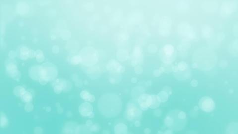 Glowing turquoise blue bokeh background Animation