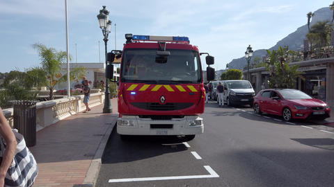 Red Renault French Fire Truck Live Action