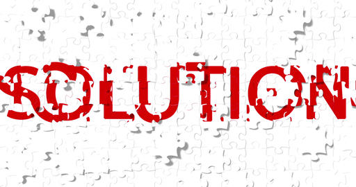 red word with problem writing on white pieces puzzle... Stock Video Footage