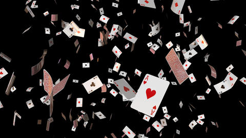 Poker card ace loop Animation