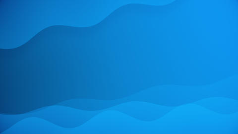 Blue Colored Shapes Waving Abstract Looping Background Animation