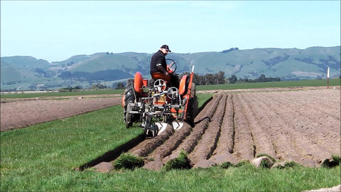 Ploughing with vintage machinery Footage