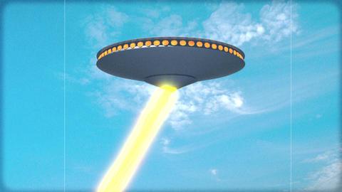 Vintage Alien Invasion: UFO attacks (Color) Animation