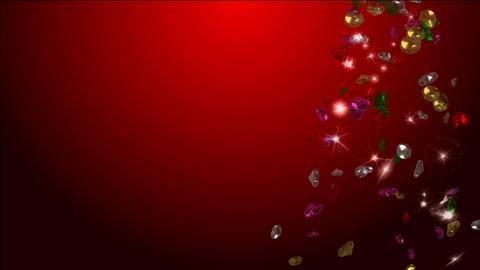 cascades of precious diamonds Animation