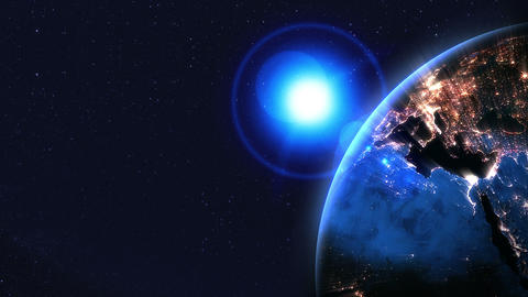 Night earth,Neon lighting,loop,position right Animation
