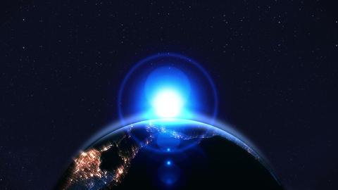 Night earth,Neon lighting,loop,position bottom Animation