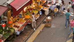 People Crowd Time Lapse at Vegetable Market Footage