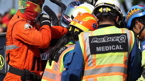 PHUKET,THAILAND,JULY 3: Unidentified official Rescue workers attend to the injur ライブ動画