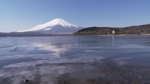 山中湖 氷01 Footage