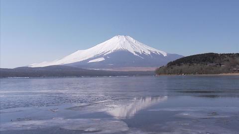 山中湖 氷02 Footage
