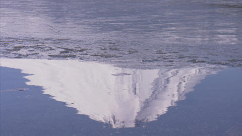 山中湖 氷03 Footage
