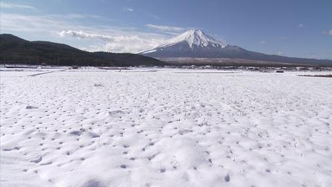 雪 忍野 雲02 Footage