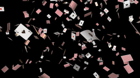 Poker card aces DOF and no DOF GIF