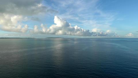 Miyako island, Japan - June 26, 2019: Pacific Ocean and Miyako island just after the sunrise Footage