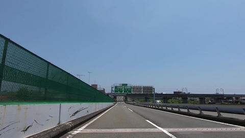 Blue sky and driving image Footage