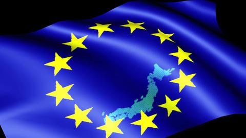 European flag EU Animation