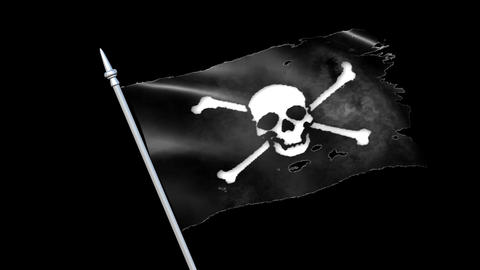 Pirate flag voyage black sea CG動画