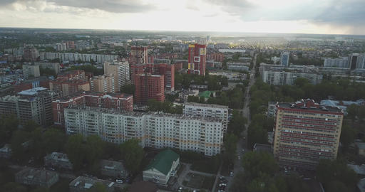Panorama of the big city.Megalopolis.Beautiful city landscape. Panorama of the Footage