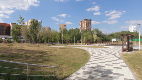 Academic Park in Moscow Footage