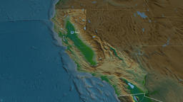 California - state of the United States. Physical Animation
