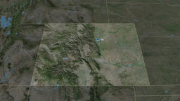 Colorado - state of the United States. Satellite Animation