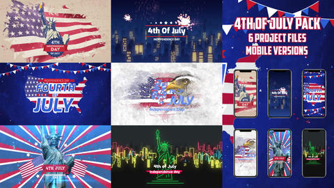 Independence Day Pack After Effects Template
