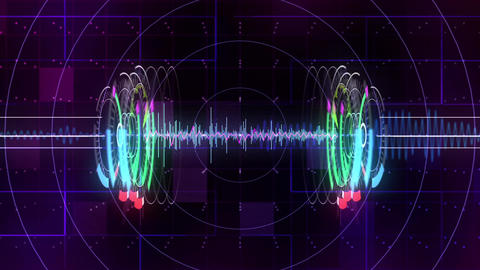 Audio Spectrum Music Visualizer Animation